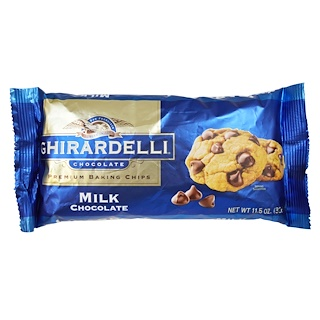 Ghirardelli, Premium Baking Chips, Milk Chocolate, 11.5 oz (326 g)