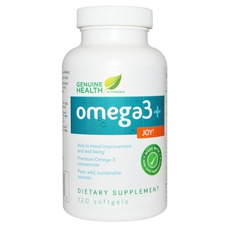Genuine Health Corporation, Omega3 + Joy, 120 Softgels