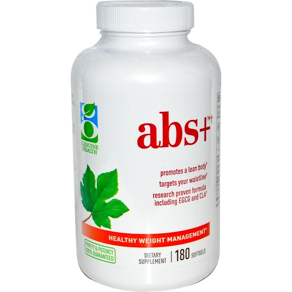 Genuine Health, Abs+, Healthy Weight Management, 180 Softgels (Discontinued Item)