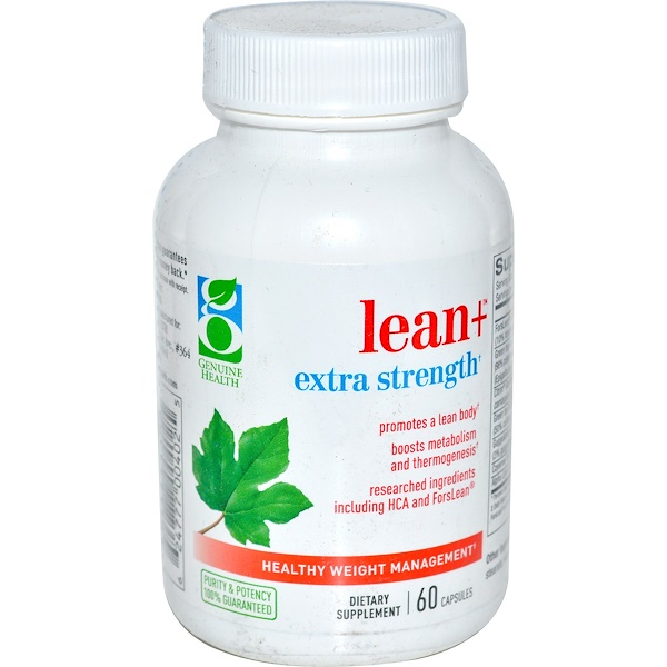 Genuine Health Corporation, Lean+ Extra Strength, Healthy Weight Management, 60 Capsules (Discontinued Item)