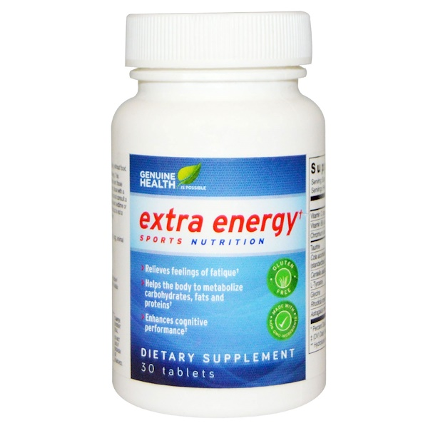 Genuine Health Corporation, Extra Energy, 30 Tablets (Discontinued Item)