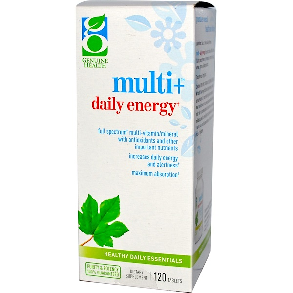 Genuine Health Corporation, Multi+Daily Energy, 120 Tablets (Discontinued Item)