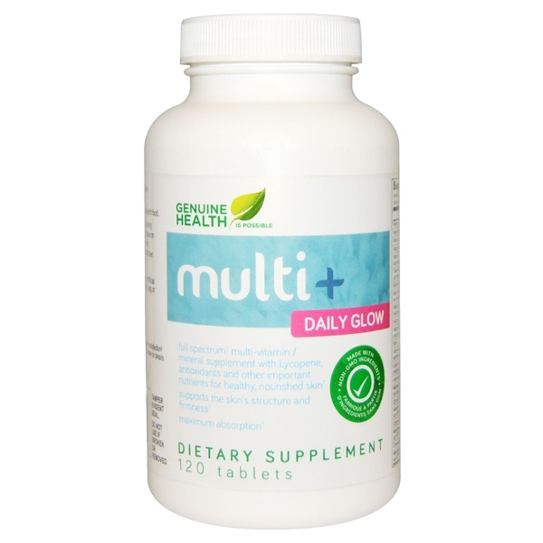Genuine Health Corporation, Multi+ Daily Glow, 120 Tablets (Discontinued Item)