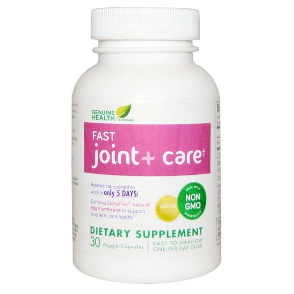 Genuine Health Corporation, Быстродействующая добавка для здоровья суставов, 30 капсул (Discontinued Item)