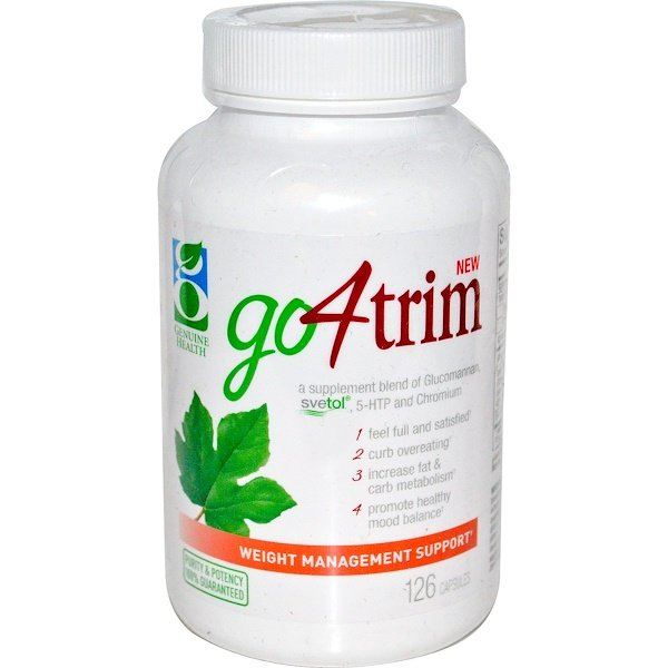 Genuine Health, Go4Trim, Weight Management Support, 126 Capsules (Discontinued Item)