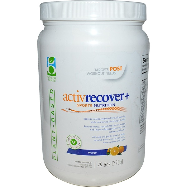 Genuine Health Corporation, Active Recovery +, Orange, 29.6 oz (720 g) (Discontinued Item)