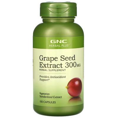 GNC Herbal Plus Grape Seed Extract, 300 mg, 100 Capsules  - купить со скидкой