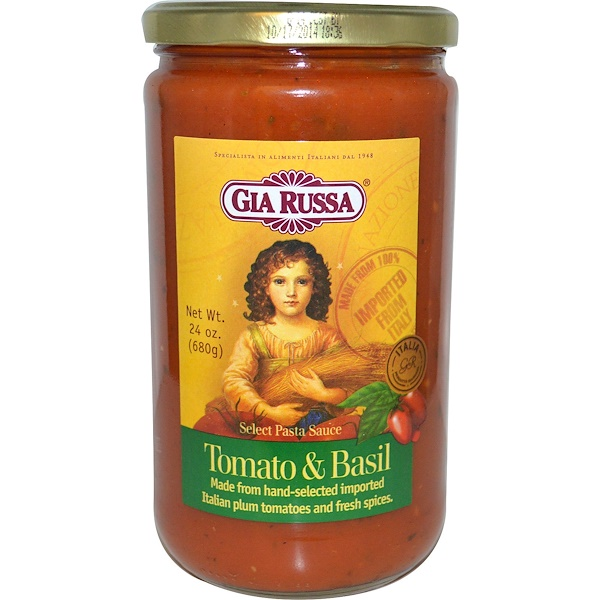 Gia Russa, Select Pasta Sauce, Tomato & Basil, 24 oz (680 g) (Discontinued Item)