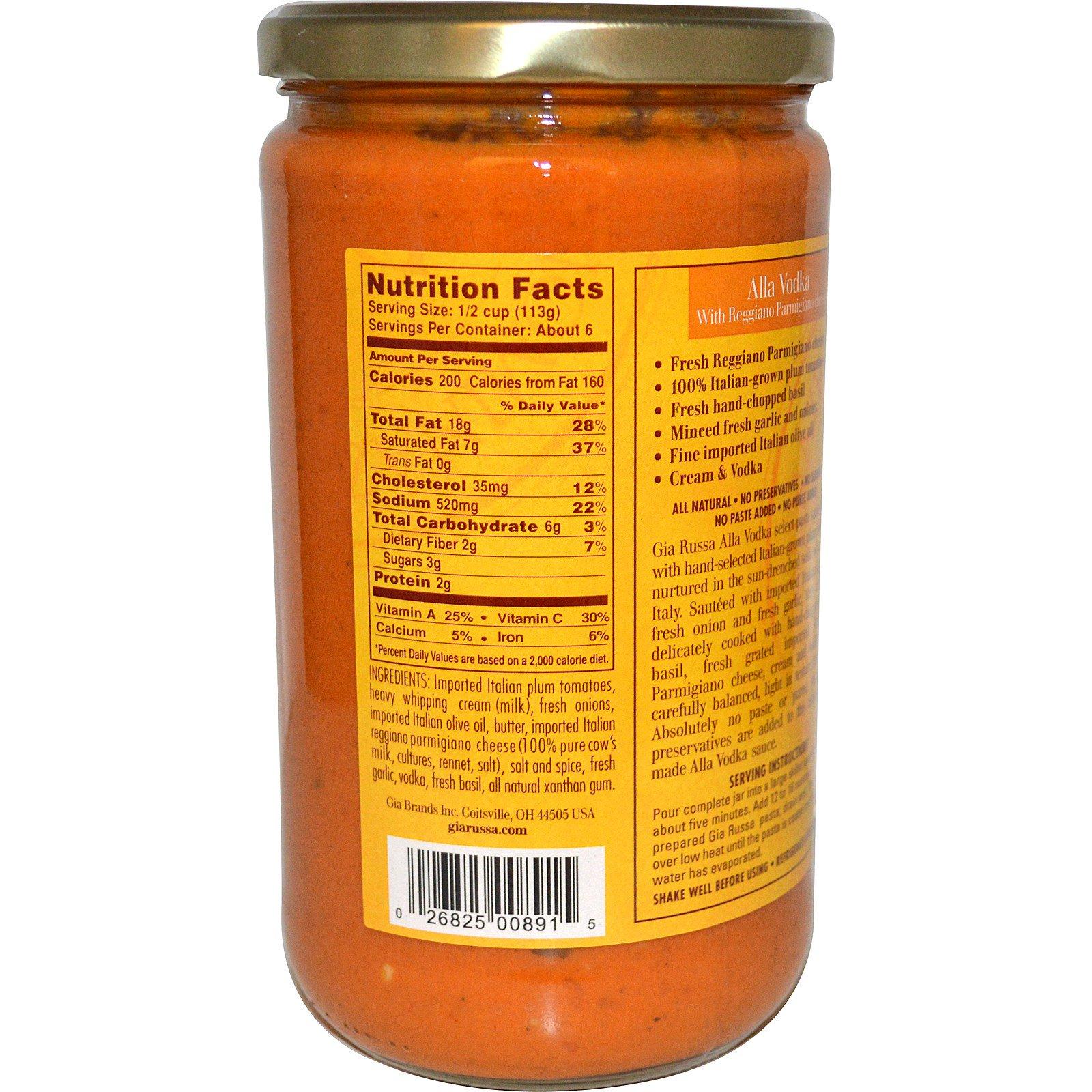 Gia Russa, Select Pasta Sauce, Alla Vodka, 24 oz (680 g) - iHerb com