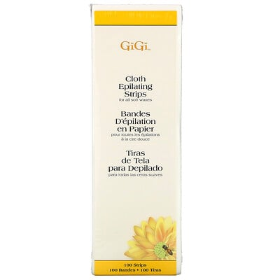 Купить Gigi Spa Тканевые полоски для депиляции, для мягкого воска, большие, 100шт.