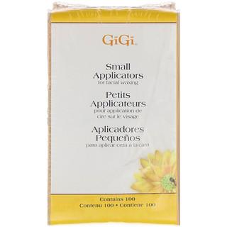 Gigi Spa, Small Applicators for Facial Waxing, 100 Small Applicators