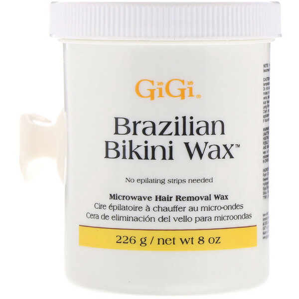 Gigi Spa, Brazilian Bikini Wax, Microwave Hair Removal Wax, 8 oz (226 g)