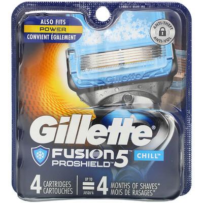 Купить Gillette Сменные кассеты для бритья Fusion5 Proshield, Chill, 4 кассеты