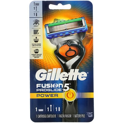Купить Gillette Бритва Fusion5 Proglide Power, 1 бритва+ 1 кассета+ 1 батарейка