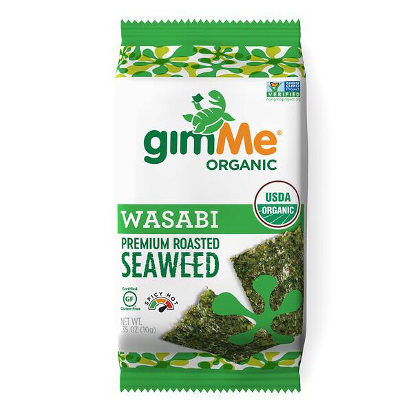 Premium Roasted Seaweed, Wasabi, .35 oz (10 g)