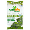 gimMe, Premium Roasted Seaweed, Extra Virgin Olive Oil, 6 Pack. 0.17 oz (5 g) Each