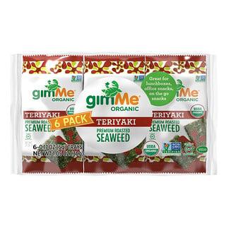 gimMe, Premium Roasted Seaweed, Teriyaki, 6 Pack, 0.17 oz (5 g) Each