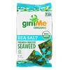 gimMe, Premium Roasted Seaweed, Sea Salt , 6 Pack. 0.17 oz (5 g) Each