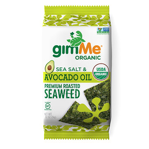 gimMe, Premium Roasted Seaweed, Sea Salt & Avocado Oil, 0.32 oz (9 g)'