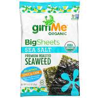 gimMe, Premium Roasted Seaweed, Big Sheets, Sea Salt, 0.92 oz (26 g)