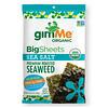 gimMe, Premium Roasted Seaweed, Big Sheets, Sea Salt, 0.92 oz (26 g)