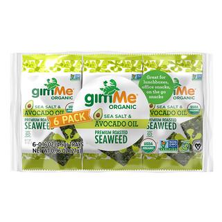 gimMe, Premium Roasted Seaweed, Sea Salt & Avocado Oil, 6 Pack. 0.16 oz (4.5 g) Each