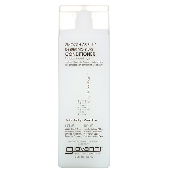 Giovanni, Acondicionador de Hidratación Más Profunda Smooth As Silk, 8.5 fl oz (250 ml)