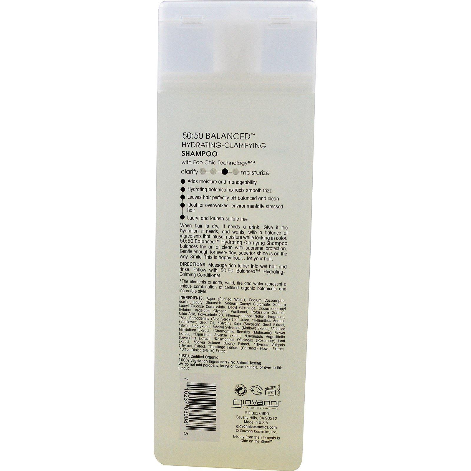f1b73d42493f Giovanni, 50:50 Balanced Hydrating-Clarifying Shampoo, 8.5 fl oz (250 ml)