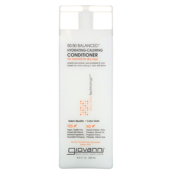 Giovanni, 50:50 Balanced, Hydrating-Calming Conditioner, 8.5 fl oz (250 ml)