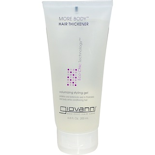 Giovanni, More Body, Hair Thickener, Volumizing Styling Gel, 6.8 fl oz (200 ml)