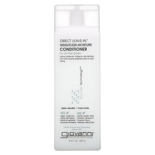 Giovanni, Après-shampooing hydratant et léger DirectLeave-In, Pour tous types de cheveux, 250ml