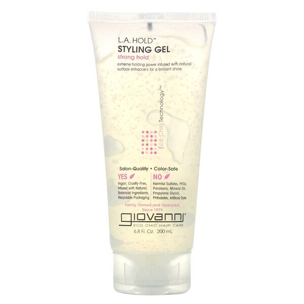 L.A. Natural, Styling Gel, Strong Hold, 6.8 fl oz (200 ml)