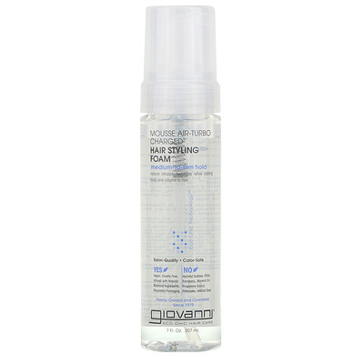 Giovanni Mousse Air-Turbo Charged, Hair Styling Foam, 7 fl oz (207 ml)
