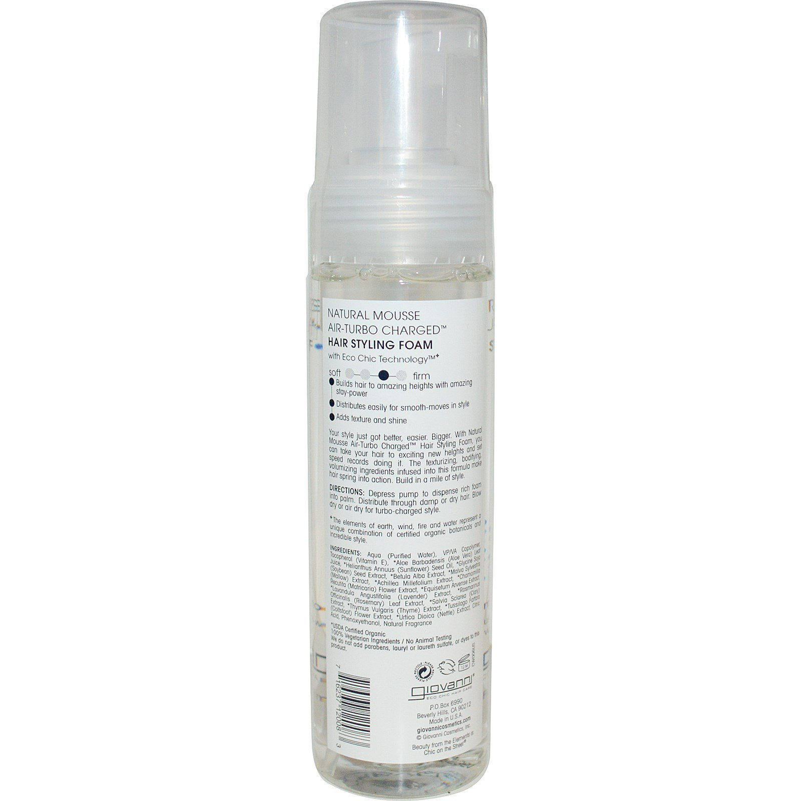 Hair Styling Foam Fair Giovanni Natural Mousse Airturbo Charged Hair Styling Foam 7 .