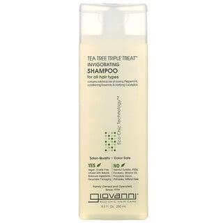 Giovanni, Tea Tree Triple Treat, Invigorating Shampoo, For All Hair Types, 8.5 fl oz (250 ml)
