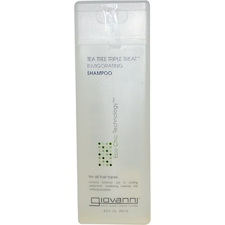 Giovanni, Tea Tree Triple Treat 활력 샴푸, 8.5 fl oz(250 ml)