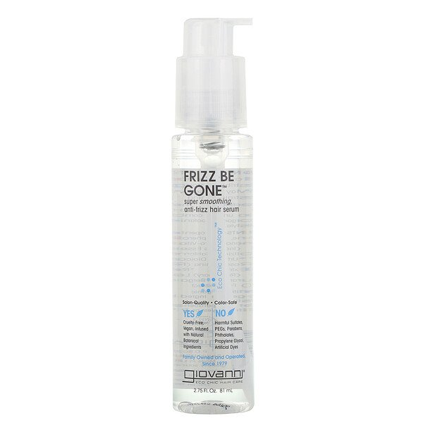 Frizz Be Gone, Super Smoothing, Anti-Frizz Hair Serum, 2.75 fl oz (81 ml)