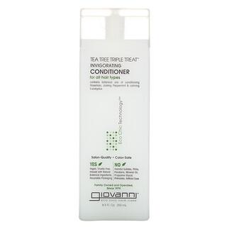 Giovanni, TeaTreeTripleTreat, Après-shampooing tonifiant, Pour tous types de cheveux, 250ml