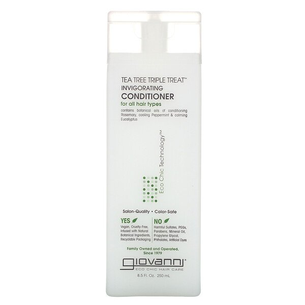 Giovanni, Tea Tree Triple Treat Invigorating Conditioner, 8.5 fl oz (250 ml)