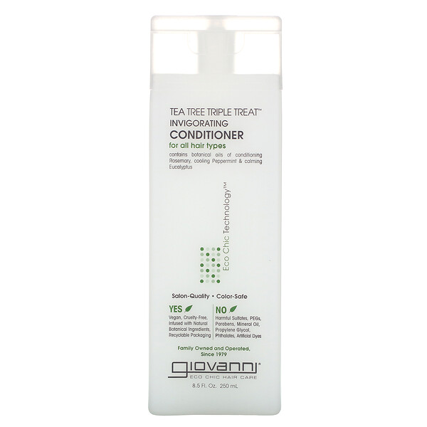 Tea Tree Triple Treat Invigorating Conditioner, 8.5 fl oz (250 ml)