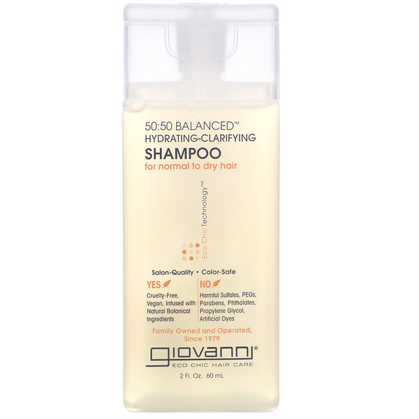 50:50 Balanced Hydrating-Clarifying Shampoo, 2 fl oz (60 ml)