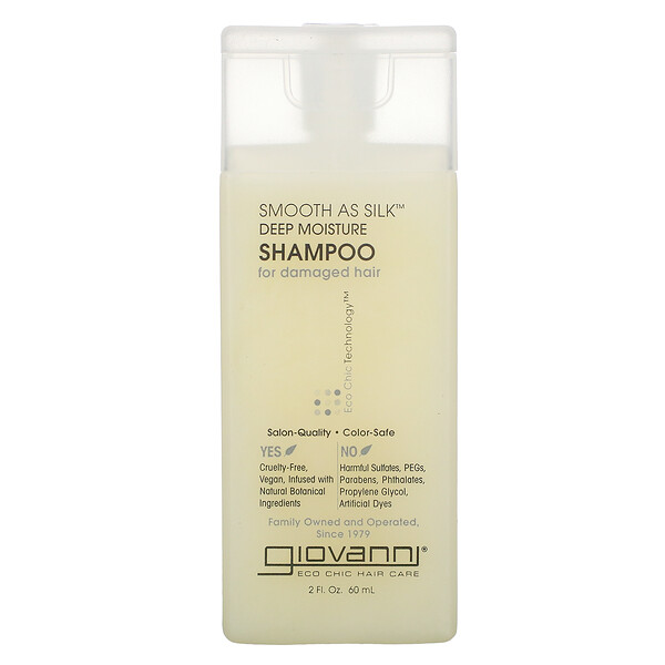 Giovanni, Smooth As Silk, Deep Moisture, Shampoo, 2 fl oz (60 ml)