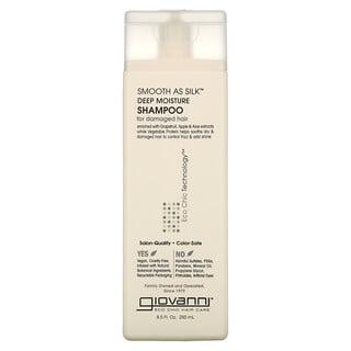 Giovanni, Smooth As Silk, Deep Moisture Shampoo, For Damaged Hair, 8.5 fl oz (250 ml)
