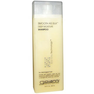 Giovanni, Champú de Hidratación Profunda Smooth As Silk, 8.5 fl oz (250 ml)
