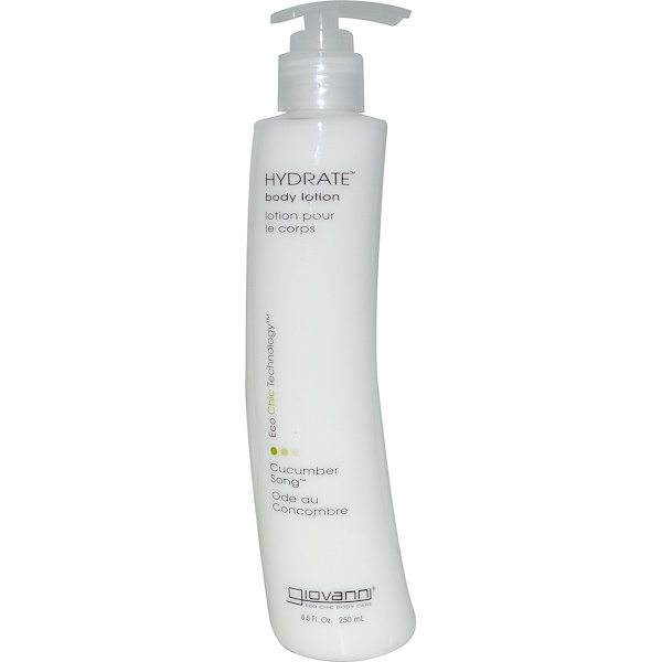 Giovanni, Hydrate, Body Lotion, Cucumber Song, 8.5 fl oz (250 ml) (Discontinued Item)