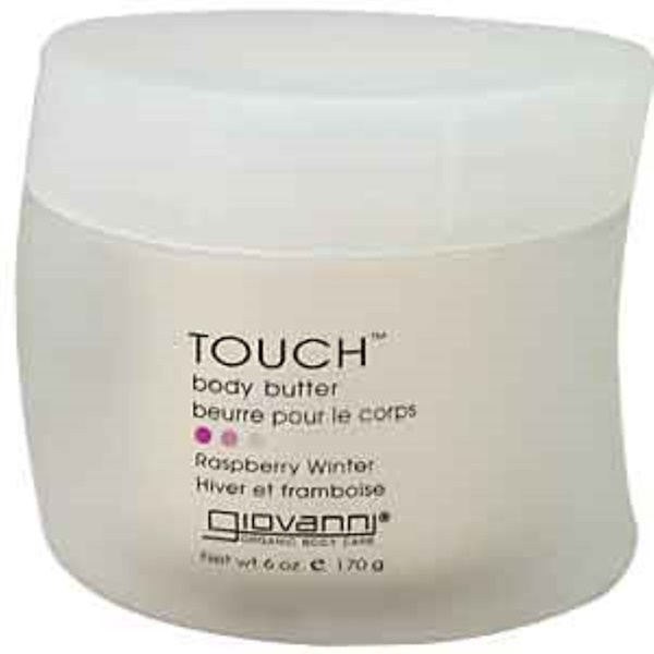 Giovanni, Touch, Body Butter, Raspberry Winter, 6 oz (170 g) (Discontinued Item)