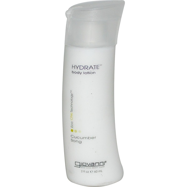 Giovanni, Hydrate Body Lotion, Cucumber Song, 2 fl oz (60 ml) (Discontinued Item)