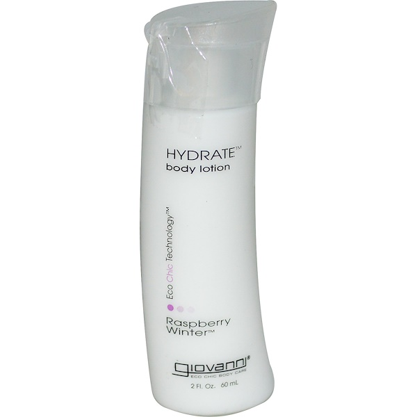 Giovanni, Hydrate Body Lotion, Raspberry Winter, 2 fl oz (60 ml) (Discontinued Item)