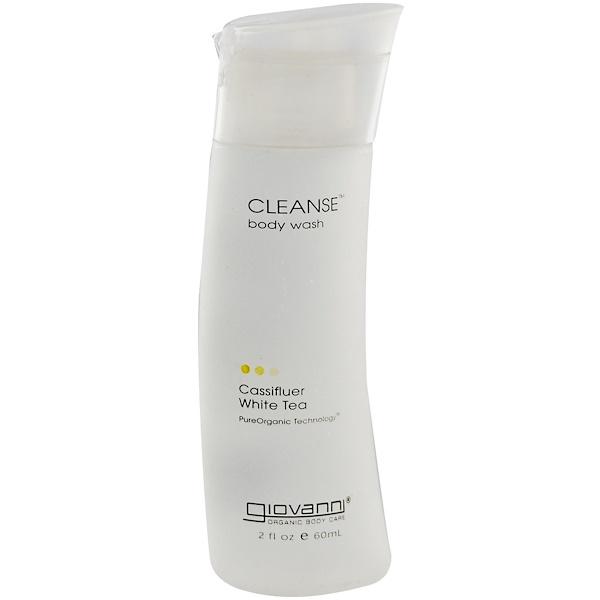 Giovanni, Cleanse Body Wash, Cassifluer White Tea, 2 fl oz (60 ml) (Discontinued Item)