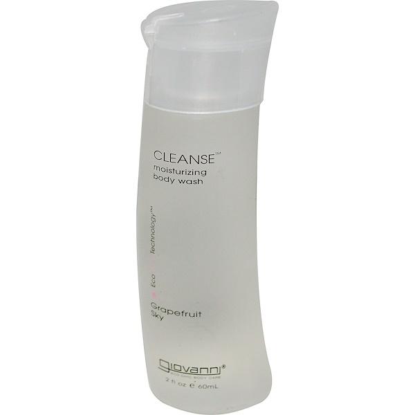 Giovanni, Cleanse Body Wash, Grapefruit Sky, 2 fl oz (60 ml) (Discontinued Item)
